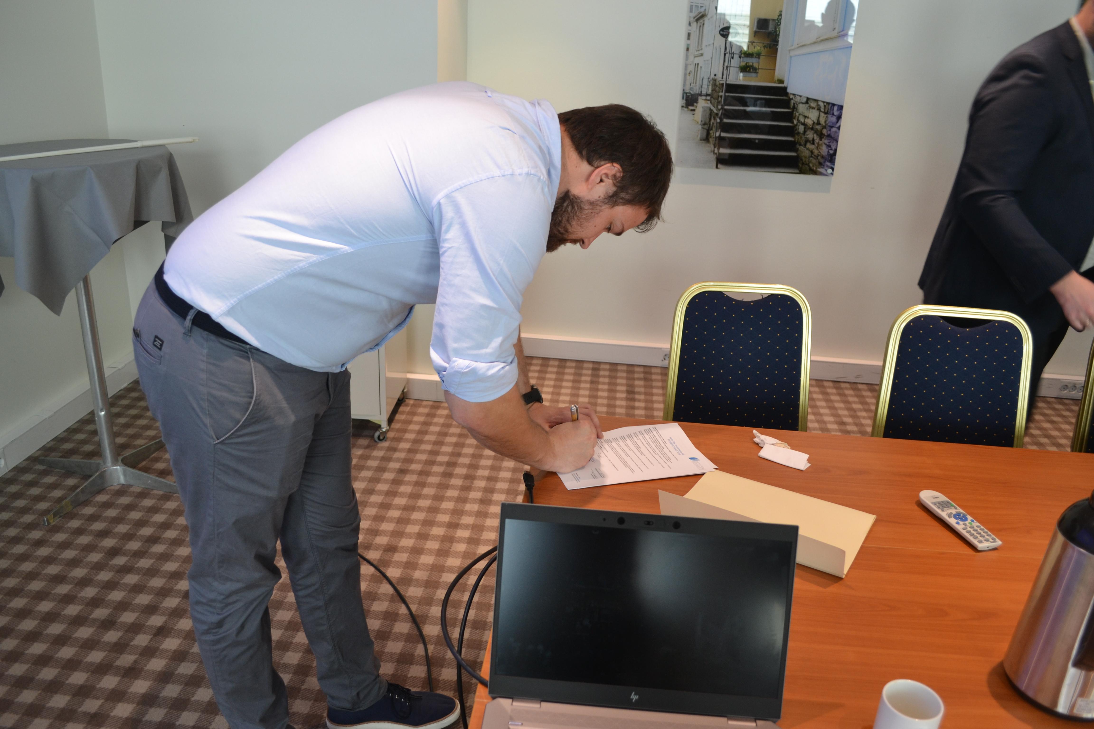 Signering Kristian
